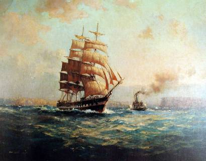 The Macquarie Leaving Sydney Heads - John Allcot